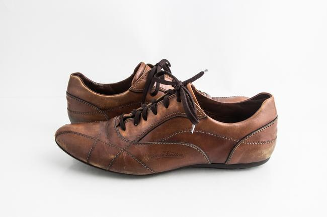 Item - Brown Lace-up Gentleman Leather Shoes