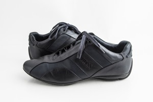 Hugo Boss Black Leather Mercedes Sporty Low-top Sneakers Shoes