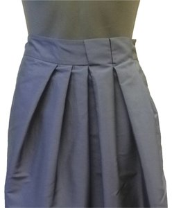 Lavia Pleated Asymetric A-line Skirt Blue