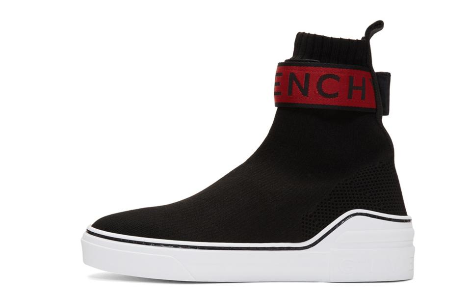 8a7bfab1508 Givenchy Black Red Mens   George V Sock High-top Sneakers Size EU 45 ...