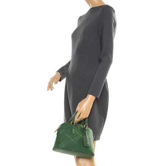 Tory Burch Leather Satchel in Green Image 2