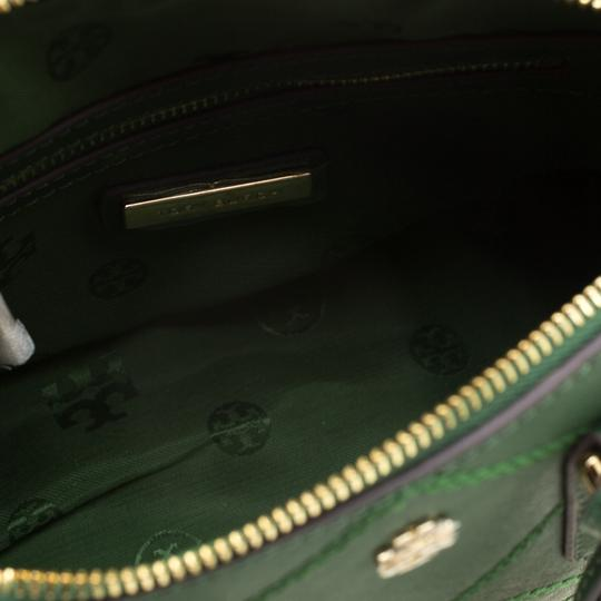 Tory Burch Leather Satchel in Green Image 5