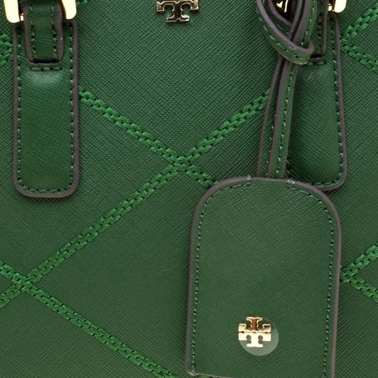 Tory Burch Leather Satchel in Green Image 7