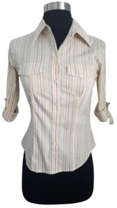 0d8eb4836ee Laundry by Shelli Segal Button Down Shirt Warmed tones multi-colored stripes