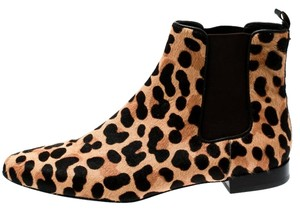 Tory Burch Leopard Leather Brown Boots