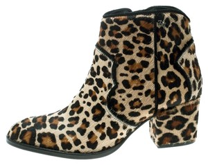 Zadig & Voltaire Leopard Leather Brown Boots