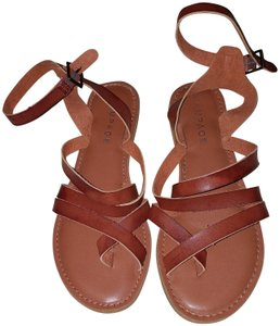 Rampage Leather Brown Sandals
