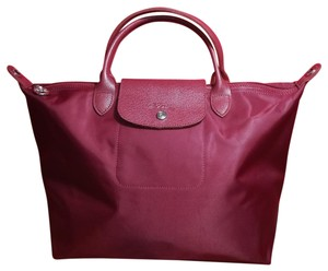 Longchamp Excellent Lightweight Folding Waterproof Tote in Opera Red #609