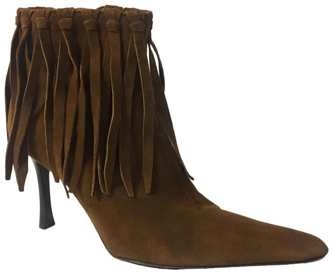 Item - Pointy Toe Fringe Ankle Boots/Booties Size EU 35 (Approx. US 5) Regular (M, B)