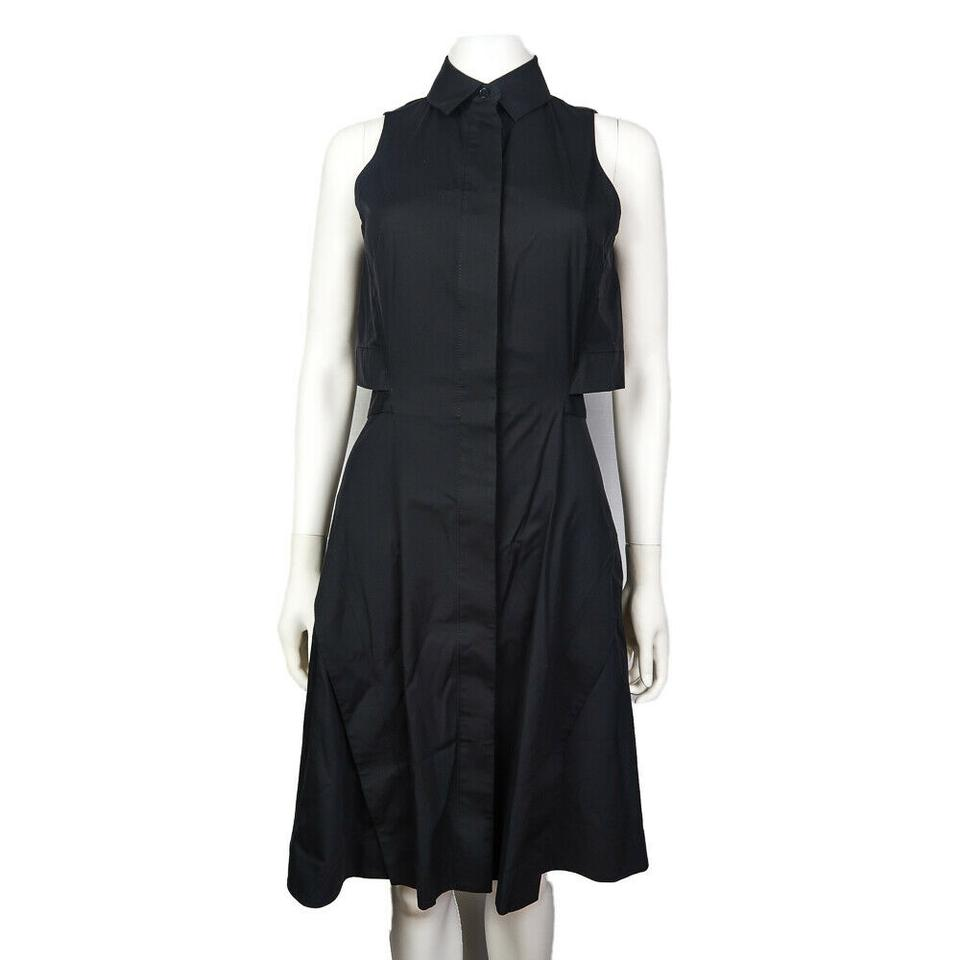 4f66397e3f9 Proenza Schouler Black Open Collar Sleeveless Mid-length Night Out ...