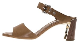 Stella McCartney Faux Leather Brown Sandals