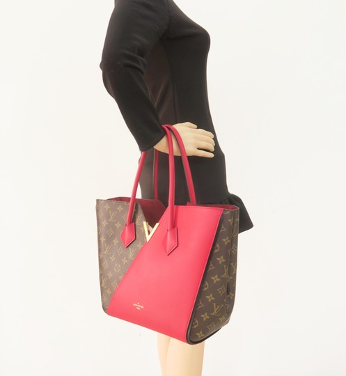 Louis Vuitton Lv Kimono Monogram Canvas Mm Tote in Brown&Red Image 11