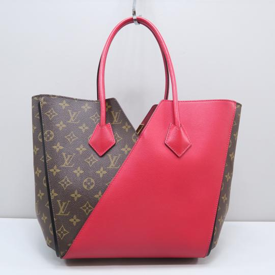 Louis Vuitton Lv Kimono Monogram Canvas Mm Tote in Brown&Red Image 2