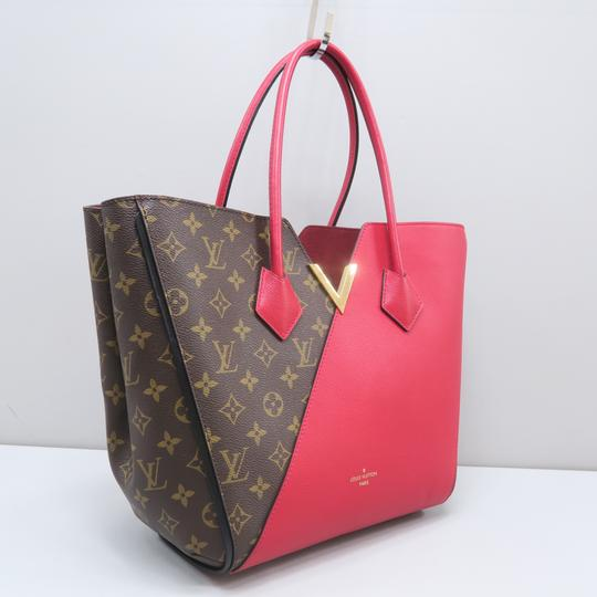 Louis Vuitton Lv Kimono Monogram Canvas Mm Tote in Brown&Red Image 3