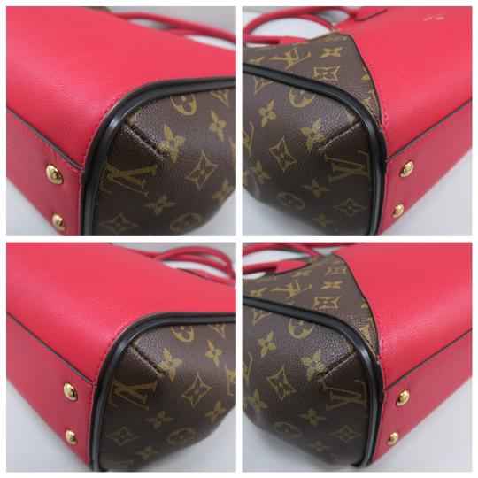 Louis Vuitton Lv Kimono Monogram Canvas Mm Tote in Brown&Red Image 5