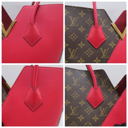 Louis Vuitton Lv Kimono Monogram Canvas Mm Tote in Brown&Red Image 7