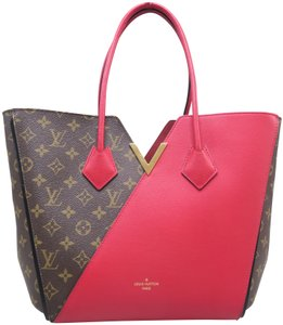 Louis Vuitton Lv Kimono Monogram Canvas Mm Tote in Brown&Red