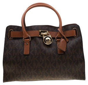 MICHAEL Michael Kors Leather Tote in Brown