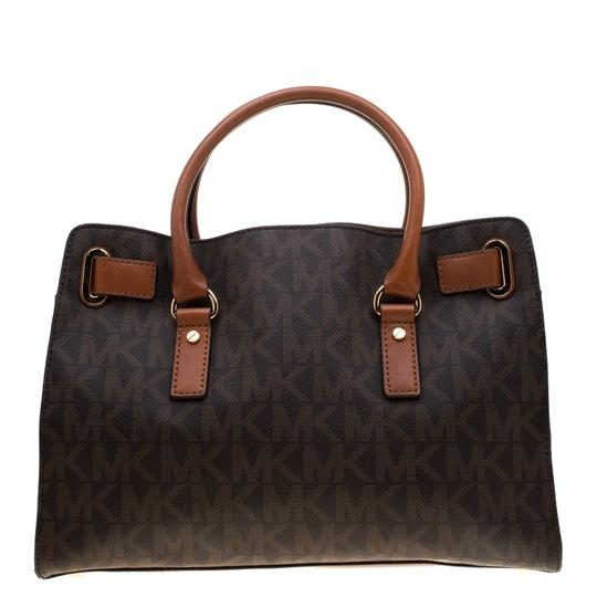 MICHAEL Michael Kors Leather Tote in Brown Image 1