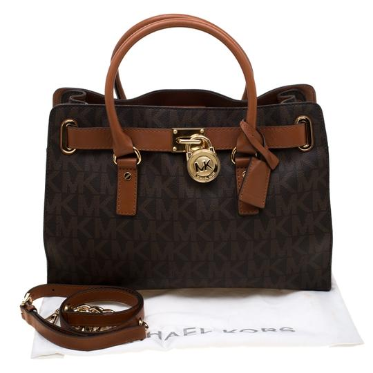 MICHAEL Michael Kors Leather Tote in Brown Image 11