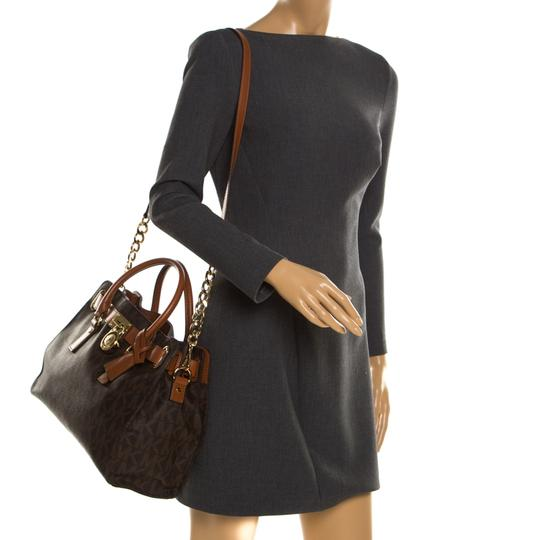 MICHAEL Michael Kors Leather Tote in Brown Image 2