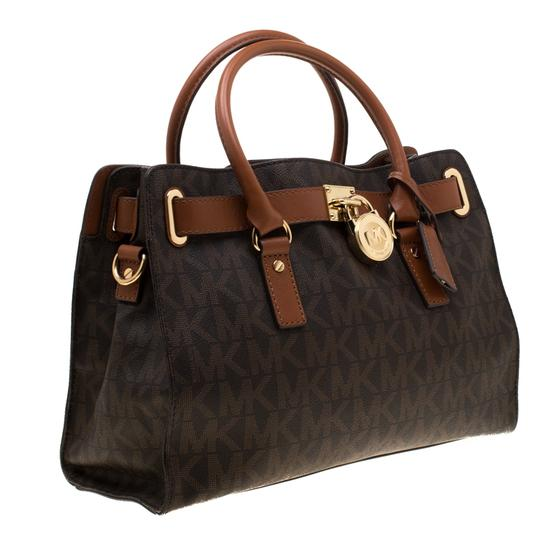 MICHAEL Michael Kors Leather Tote in Brown Image 3