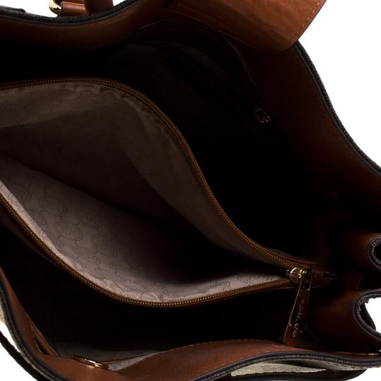 MICHAEL Michael Kors Leather Tote in Brown Image 6