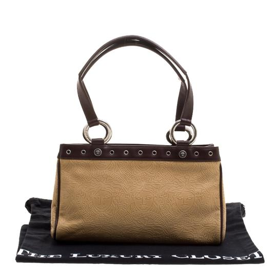 Versace Leather Tote in Beige Image 10