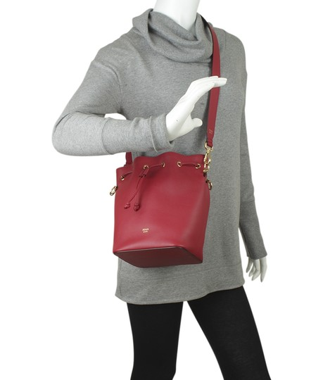 Fendi Leather Tote in Red Image 1