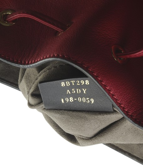 Fendi Leather Tote in Red Image 10