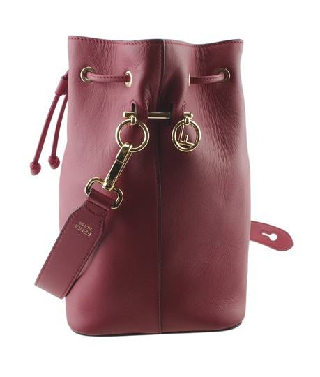 Fendi Leather Tote in Red Image 2