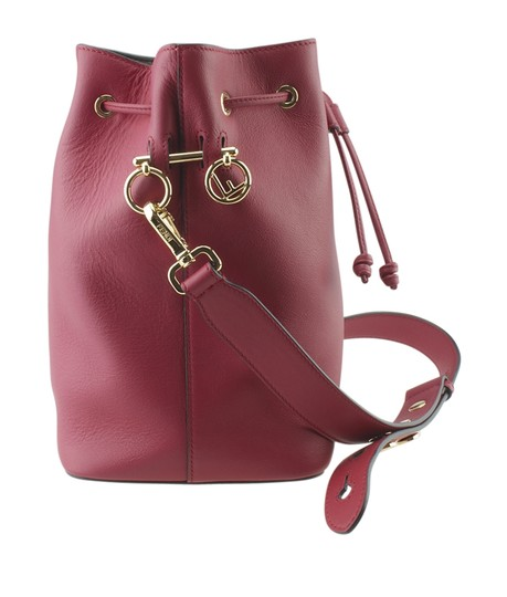 Fendi Leather Tote in Red Image 3