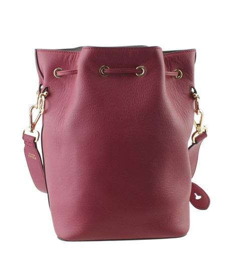 Fendi Leather Tote in Red Image 4