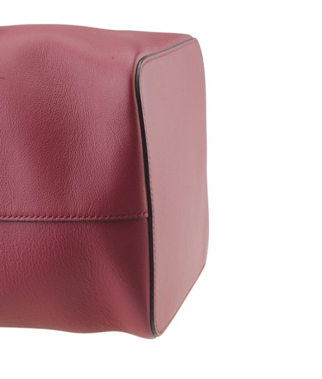 Fendi Leather Tote in Red Image 6