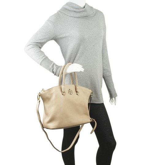 Tory Burch Xleather Tote in Beige Image 1