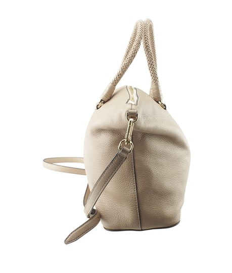 Tory Burch Xleather Tote in Beige Image 3