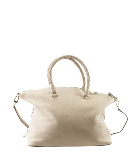 Tory Burch Xleather Tote in Beige Image 4