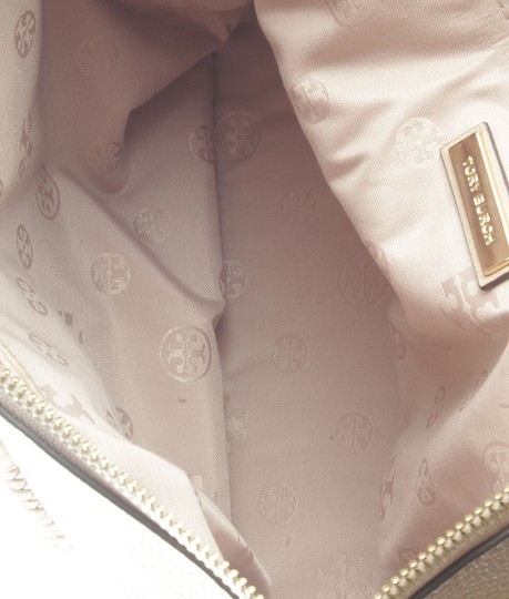Tory Burch Xleather Tote in Beige Image 8