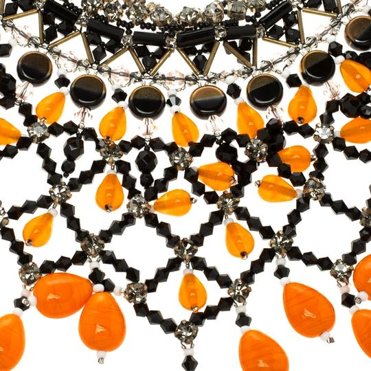Etro Multicolor Crystal Beaded Statement Drop Necklace Image 1