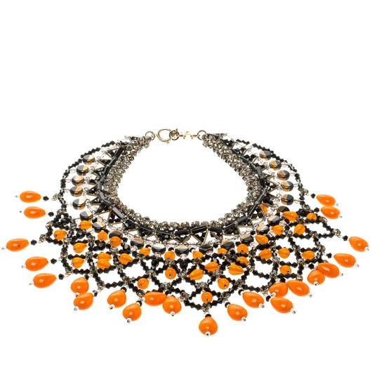Etro Multicolor Crystal Beaded Statement Drop Necklace Image 2
