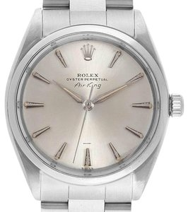Rolex Rolex Air King Vintage Stainless Steel Silver Dial Mens Watch 5500
