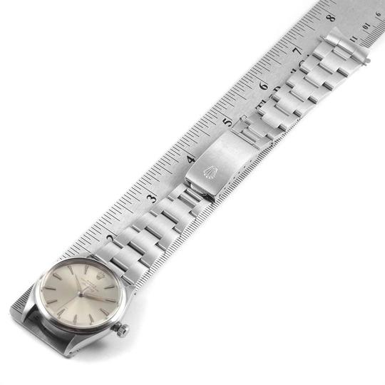 Rolex Rolex Air King Vintage Stainless Steel Silver Dial Mens Watch 5500 Image 10