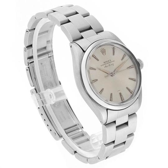 Rolex Rolex Air King Vintage Stainless Steel Silver Dial Mens Watch 5500 Image 2