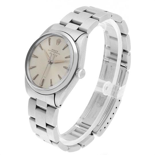 Rolex Rolex Air King Vintage Stainless Steel Silver Dial Mens Watch 5500 Image 3