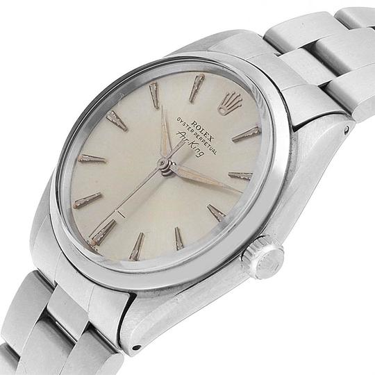 Rolex Rolex Air King Vintage Stainless Steel Silver Dial Mens Watch 5500 Image 4