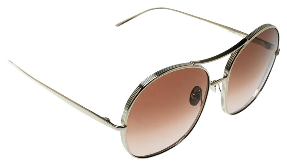 Chloe Brown Gold Brown Gradient Ce128s Round Sunglasses 42 Off Retail