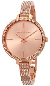 Michael Kors Jaryn Index H-Marker Gold S-Steel Quartz Round Ladies Watch