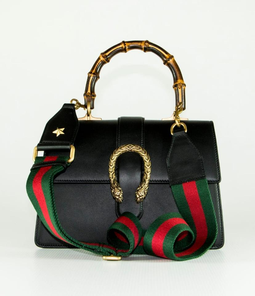 9d3de0578 Gucci Top Handle Dionysus Medium Black Leather Shoulder Bag - Tradesy