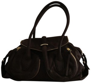 Botkier Leather Distressed Satchel in Brown