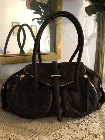 Botkier Leather Distressed Satchel in Brown Image 1